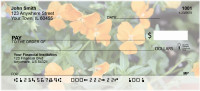 Orange Flowers Expression Personal Checks | BAA-58