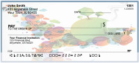 Abstract Rainbow Collage Personal Checks | BAB-71