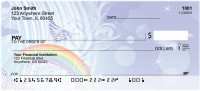 Rainbow Butterfly Abstract Personal Checks | BAF-24