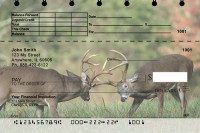 Big Horned Buck Deer Top Stub Personal Checks | TSANK-71