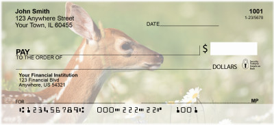 Deer Fawn Personal Checks | ANI-57