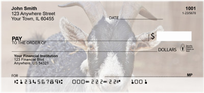Goats Personal Checks | BAA-23