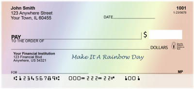 Make It A Rainbow Day Personal Checks | BAA-79