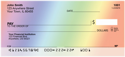 Rainbow Colors Personal Checks | BAB-25