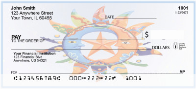 Sun and Moon Abstract Personal Checks | BAB-83