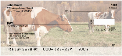 Cows in a Field Personal Checks | BAC-92