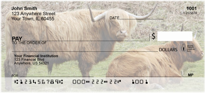Highland Cattle Personal Checks | BAC-93