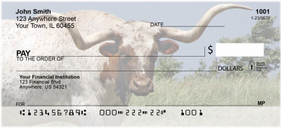 Longhorns Personal Checks | BAC-94
