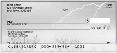 Lightning Storms Personal Checks | BAD-53