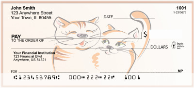 Pur-r-rfect Cat Lovers Personal Checks | BAD-70