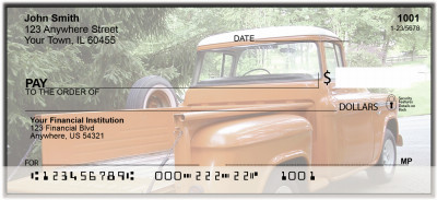 Classic Trucks From The 50's Personal Checks | BAN-07