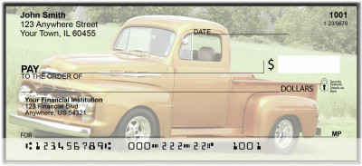 Classic Trucks From The 40's Personal Checks | BAN-08