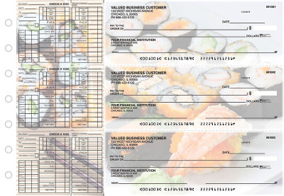 Japanese Cuisine Payroll Designer Business Checks | BU3-CDS06-PAY