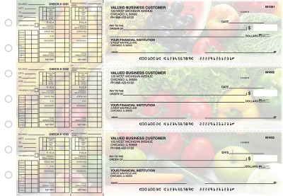 Fresh Produce Payroll Designer Business Checks | BU3-CDS09-PAY