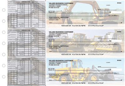 Construction Payroll Designer Business Checks | BU3-CDS10-PAY
