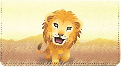 Baby Animals Lion Leather Checkbook Cover | CDP-ANK73B