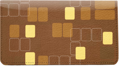 Retro Squares Leather Checkbook Cover | CDP-GEP52
