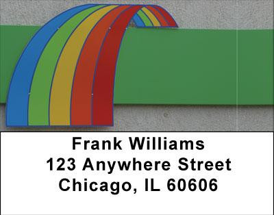 Rainbow Road Address Labels | LBABS-02
