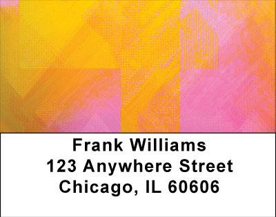 Colorful Collage Address Labels | LBABS-06