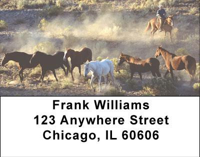 Wild Horse Roundup Address Labels | LBANI-81
