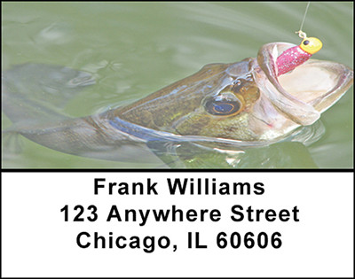 Bass Fishing Success Address Labels | LBBAB-55