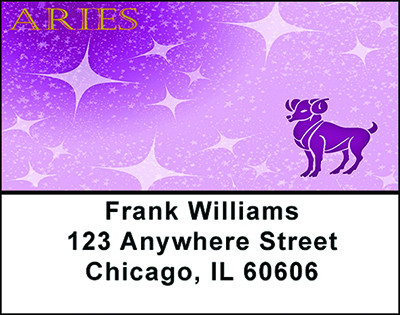 Aries Zodiac Sign Address Labels | LBBAB-58