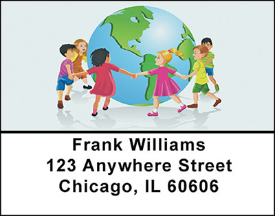 Children of the World Address Labels | LBBAC-13