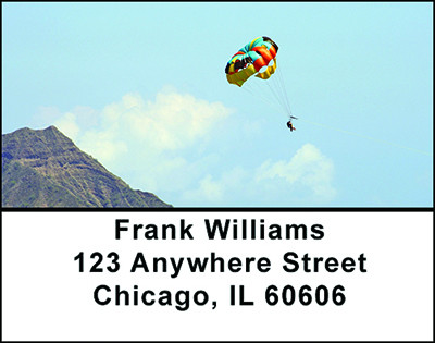 Parasailing Fun Address Labels | LBBAD-11