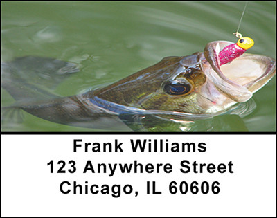 Bass Fishing Address Labels | LBBAE-40
