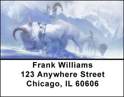 Animals In Winter Address Labels | LBBAE-78