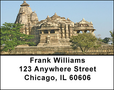 Hindu Architecture Address Labels | LBBAF-06