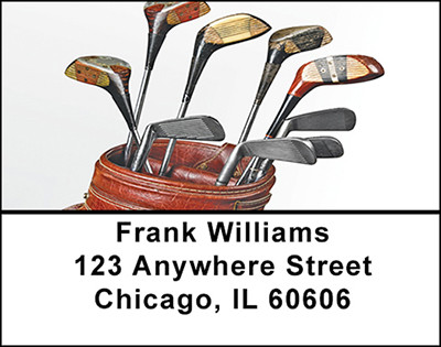 Vintage Golf Clubs Address Labels | LBBAF-77