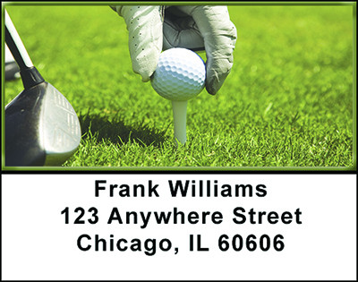 Golfing Address Labels | LBBAH-75