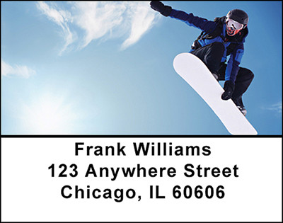 Extreme Snowboarding Address Labels | LBBAH-79