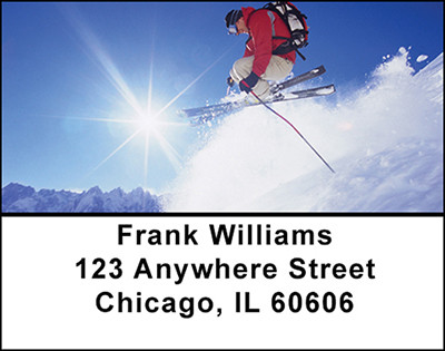 Extreme Snow Skiing Address Labels | LBBAH-80
