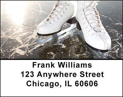 Ice Skating Address Labels | LBBAH-84