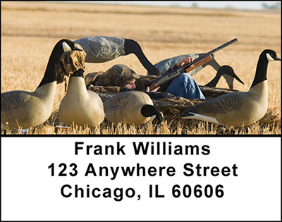 Hunting Canadian Geese Address Labels | LBBAI-23