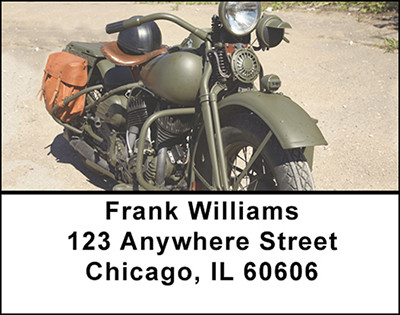 Classic Military Motorcycles Address Labels | LBBAL-21