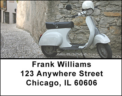 Retro Vintage Scooters Address Labels | LBBAL-22