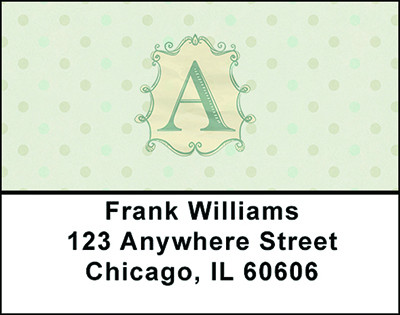 Vintage Monogram A Address Labels | LBBAL-86