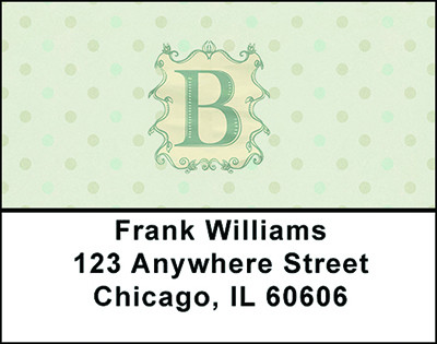 Vintage Monogram B Address Labels | LBBAL-87