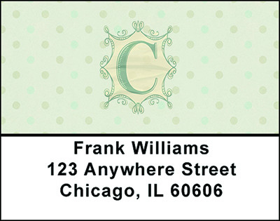 Vintage Monogram C Address Labels | LBBAL-88