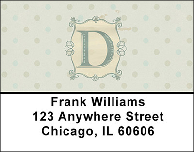 Vintage Monogram D Address Labels | LBBAL-89