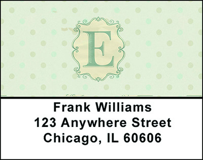 Vintage Monogram E Address Labels | LBBAL-90