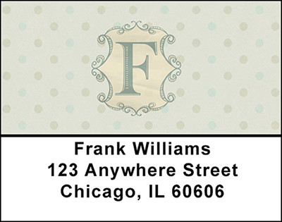 Vintage Monogram F Address Labels | LBBAL-91