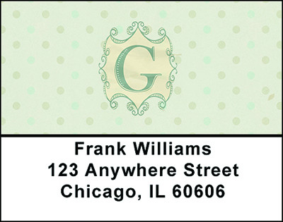 Vintage Monogram G Address Labels | LBBAL-92