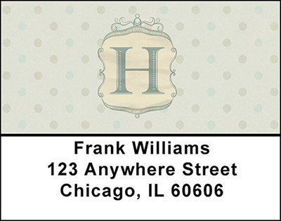 Vintage Monogram H Address Labels | LBBAL-93