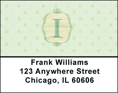Vintage Monogram I Address Labels | LBBAL-94