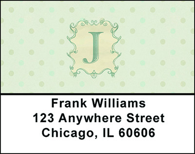 Vintage Monogram J Address Labels | LBBAL-95