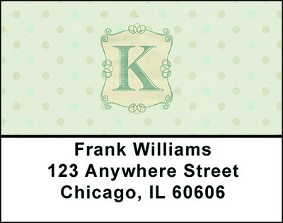 Vintage Monogram K Address Labels | LBBAL-96